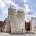 В Нью-Йорке (США) представлена публике экспериментальная башня из кукурузы и грибов